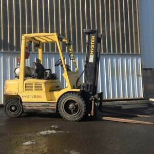 2003 Hyster 5 000lb Forklift Pneumatic Tire 4 cyl Gm Lpg H50xm