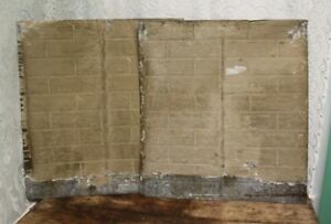 Pair Of Antique Salvaged Shabby Chic Tin Ceiling Tiles 25 3 4 X 28 3