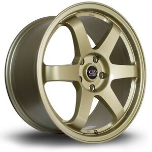 Rota Grid Wheels Gold 18x8 5 44 5x100 For Scion Tc 05 10 Subaru Wrx 02 14