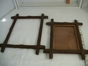Antique Eastlake Adirondack Matching Picture Frames 1 With Glass 6x8 About 9x11