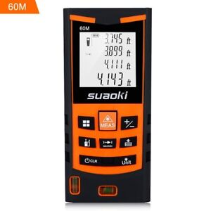 Suaoki S9 198ft Portable Laser Distance Measure Laser Measure With 2 Bubble And