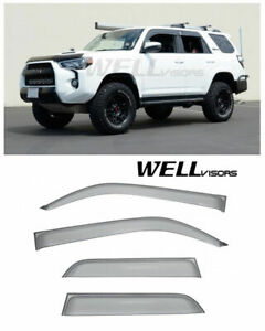 Wellvisors Side Window Visors For Toyota 4runner 2010 2018 Deflectors Trim