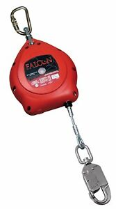 Miller Falcon 20 foot Galvanized Cable Self retracting Lifeline With Tagline And