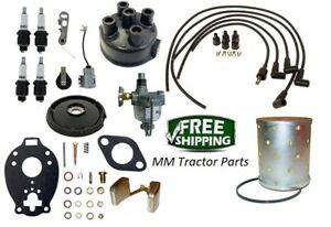 John Deere 1010 2010 Tractor Distributor Tune Up Carburetor Kit Oil Filter