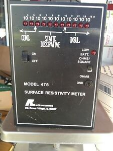 Resistance Meter Surface Resistivity rare Model 475