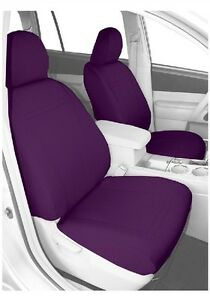 Caltrend Front Row Bucket Custom Fit Seat Cover For Select Toyota Prius Purple