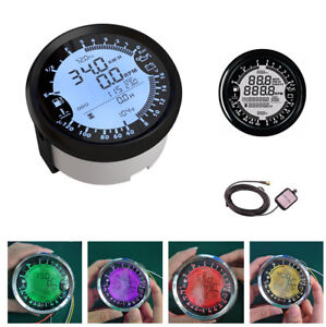 85mm Digital Colorful Auto Motorcycle Gps Speedometer Gauge Multimeter Odometer