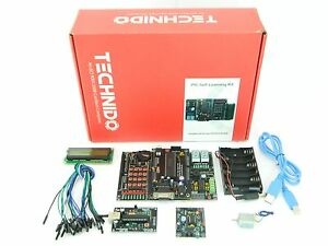 Pic Development Board Learning Board Starter Kit With Usb Emulator Programmer