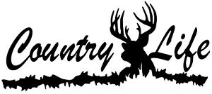 Country Life Deer Truck Skull Hunting Tree Car Rack Decal Window Sticker Vinyl