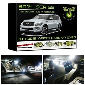 White Led Interior Lights Package Kit For 11 15 Qx56 qx80 11 Pcs 3014 Series Smd