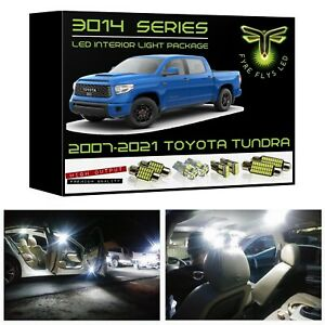 White Led Interior Lights Package Kit For 2007 2020 Toyota Tundra 3014 Smd tool