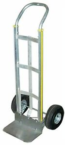Milwaukee Hand Trucks 45110 Aluminum Flow Back Handle Truck With Curved Frame