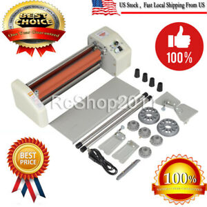 8350t 33 5cm A3 Roll Laminator Speed Adjustable Four Roller Hot Cold Laminating