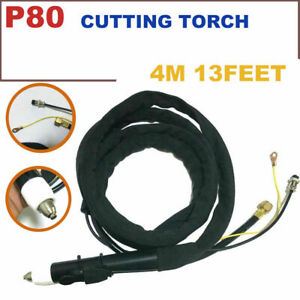 P 80 Air Plasma Cutter 13 Feets 4m Cable Cutting Torch Complete For Usa
