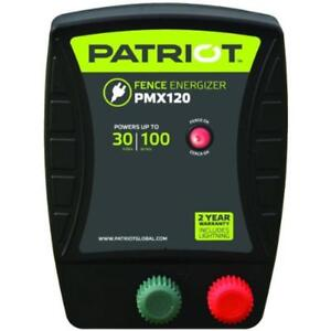 Patriot Pmx120 Electric Fence Charger Energizer 1 2 Joule 30 Mile 100 Acre