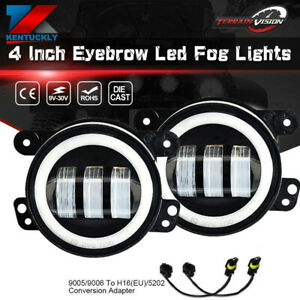 Fit 2006 2010 Chrysler Pt Cruiser 2005 Chrysler 300 2x 4 Round Led Fog Lights