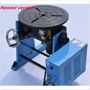 50kg Duty Welding Positioner Turntable Timing With 300mm Chuck 220v 110v