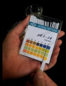 50pack lot Alkaline Ph Test Paper Strips Indicator Litmus Kit Testing Ph1 14 B