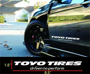 2 Toyo Tires Decals Vinyl Windshield Banners Car Stickers Graphics