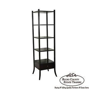 Baker Barbara Barry Collection Tall Mahogany Etagere W Drawer