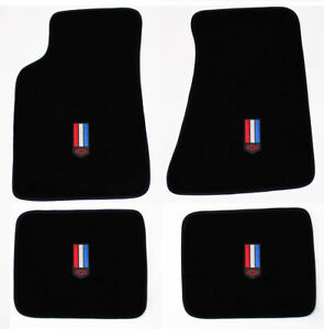 New Floor Mats 1982 2002 Chevy Camaro Embroidered Red White Blue Emblem Logo