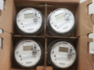 Lot Of 4 Ge I 120 ce Itron Ssi 1210 1x Wireless Smart Watthour Meter Cl200 240