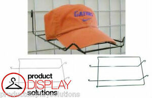 Box Of 25 Grid Gridwall Hat Cap Display Options Black White Or Chrome