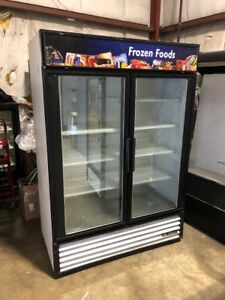 True Gdm 49f Two Door Glass Freezer Commercial Freezer Used