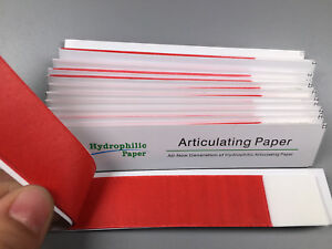 Red Dental Articulating Paper Clear Impression Straight Bar 10 Box 120 Books