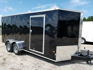 7x14 7 X 14 Enclosed Trailer Cargo Tandem V nose Utility Motorcycle 12 In Stock