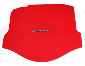 New 2010 2015 Chevy Camaro Red Rear Deck Trunk Mat Carpet With Script Logo