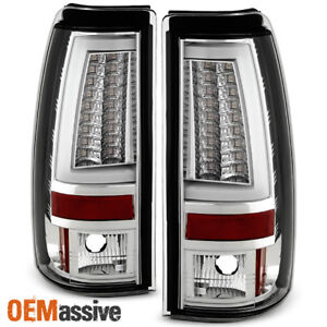 Fits 2003 2006 Chevy Silverado Gmc Sierra 1500 2500hd 3500 Clear Led Tail Lights