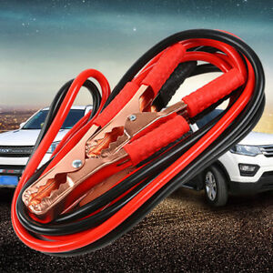 Us Emergency Lead Cable Battery Alligator Clamps Clip For Cars Jump Starter Safe