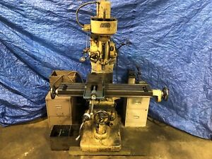 Vertical Mill Index 9 X 48 Very Tight Ways 2 Motors Single Phase And 3 Phase