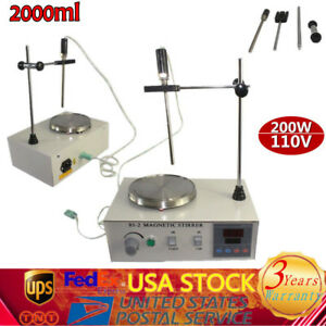 2000ml Heating Magnetic Stirrer 85 2 W Digital Temperaturer Hotplate Mixer 200w
