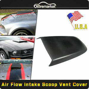 For 2005 2009 Ford Mustang Gt V6 V8 Racing Sport Abs Hood Scoop Vent Black Usa