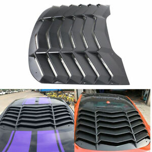 Rear Window Louver Scoop Cover In Gt Lambo Style Vent For 2015 2018 Ford Mustang