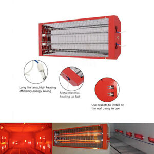 220v 2kw Curing Lamps With 2 Tubes Spray Baking Booth Infrared Auto Paint Heater
