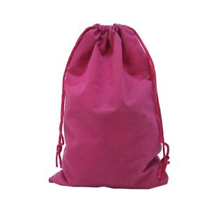 100 Fuchsia Drawstring Velvet Square Wedding Pouches Jewelry Gift Bags 6 X 9