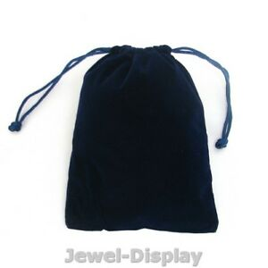 50 Royal Blue Thick Heavy Velvet Jewelry Pouches Party Gift Bags 4 7 X 6 2