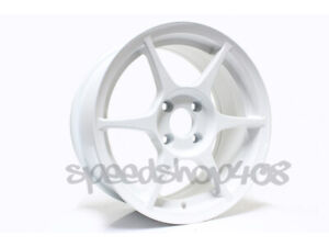 Tfs401 356 Wheels 15x7 35 4x100 For Civic Miata Eg Dc Xb Xa Gloss White Alloy