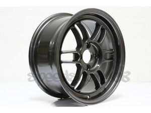 Tfs301 356 Wheels 15x7 35 4x100 For Civic Miata Eg Dc Xb Xa Gunmetal Alloy