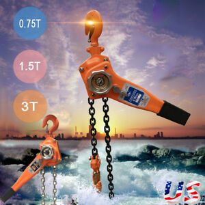 0 75 1 5 3 T Chain Puller Block Fall Chain Lift Hoist Hand Tools Chain With Hook