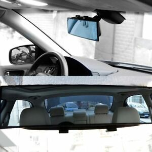 Car 300mm Wide Convex Interior Clip On Rear View Clear Mirror Universal W