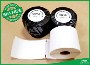 Dymo Turbo Compatible 30256 Bright White Shipping Labels 300 Thermal 100 Rolls