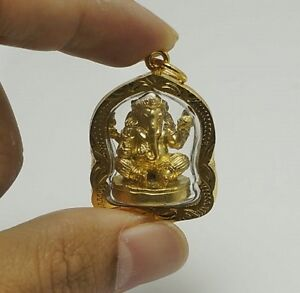 Mini Phra Pikanet Pi Ganesh Amulet Necklace Pendant For Love Lucky Wealth R77