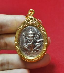 Phra Pikanet Pi Ganesh Amulet Necklace Pendant For Love Lucky Wealth R45