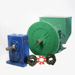 Cgg184j 40kw 1 Phase Brushless Gen alternator Pto Gear Box Coupler Combo
