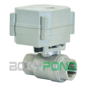 Npt 1 Motorized Ball Valve Cr3 05 Electrical Ball Valve Ac dc 9 24v ss304