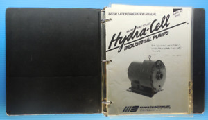 Installation Operation Manual Hydracell Industrial Pumps Model D 40 User s Guide